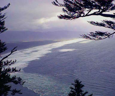 Looking south from Cape Lookout towards Sandlake