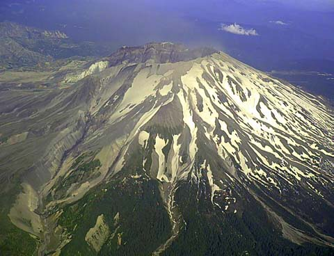 Mount Saint Mount Saint Helens,Washington pictured in late July, Late July