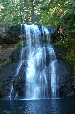 Silver Creek Falls, Upper North Falls